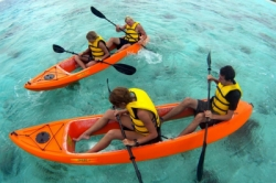 large glass bottom kayak beach and snorkel adventure bonaire 1