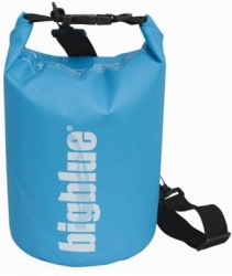 large 5L outdoor dry bag in light blue color 1500px