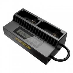 nitecore intelligent usb charger for gopro hero 4 or 3 ahdbt 201 or 301 or 401 ugp4 black 1  large